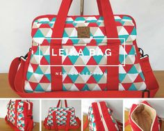 Leika Nappy Bag - Pattern by Mrs H #nappybag #diaperbag #weekender #redtriangle