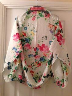 White Floral Cocoon Kimono
