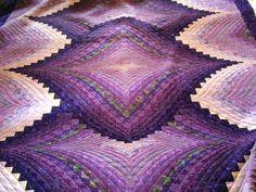Susie Weaver - Two Fabric Bargello. Bargello Quilt Patterns, Bargello Quilts, Easy Quilt Patterns, Pattern Blocks, Longarm Quilting, Hand Quilting, Machine Quilting, Quilting Templates, Quilting Designs