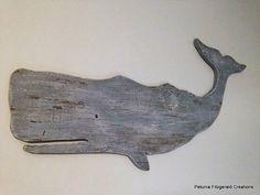Wood Whale Wall Decor Beach/Nautical Decor by petuniafitzgerald
