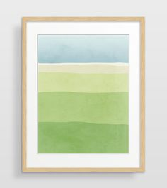 Abstract Watercolor Print Green Wall Art Print Bedroom by evesand