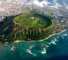 """Diamond Head crater in Hawaii"" by Proteon in pics - Imgur"