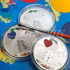PAINT YOUR COIN - FIRST LOVE 2014 Cook 5$ Silver Proof Coin FIRST PAINTABLE COIN