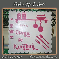 """Don't you think this is perfect for your """"ouma"""". Or call us on: 076 372 1489  See more at: tinyurl.com/qg7f74n  #Gifts #Arts #Crafts Coffee Crafts, Arts And Crafts, Holiday Decor, Gifts, Home Decor, Presents, Decoration Home, Interior Design, Art And Craft"""