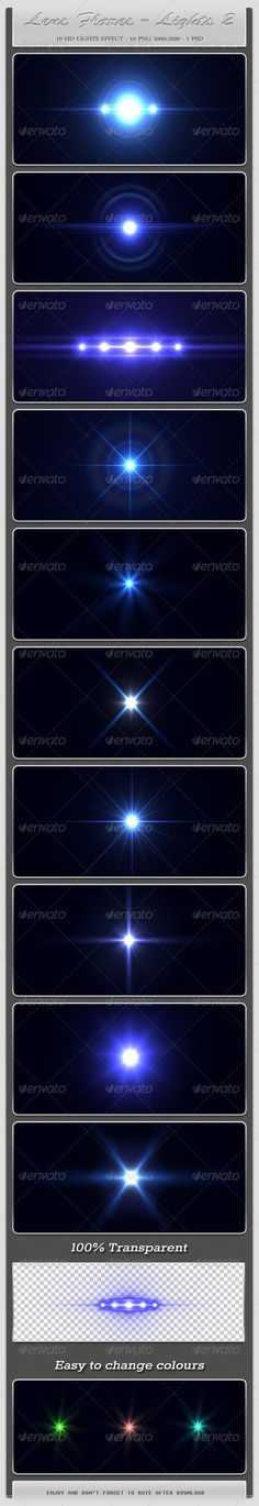 Graphic River 10 HD Lens Flares Light Effects 2 Graphics - Decorative 2024364
