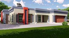 Beautiful House Plans, Simple House Plans, Dream House Plans, Dream Houses, Village House Design, House Gate Design, Village Houses, Contemporary House Plans, Modern House Plans