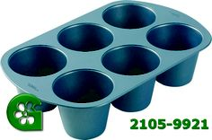 Wilton item number 2105-9921. Visit www.GalesWholesale.com for more information. 6-Cup King-Size Muffin  Pan - Non-Stick Coating. Create extra-tall treats that make an impact at any celebration! Great for cupcakes, mini angel food cakes, molded gelatin, ice cream and mousse. Heavy-gauge premium non-stick for quick release and easy clean-up. Wilton Cake Decorating, Wilton Cakes, Angel Food Cake, Food Cakes, Gelatin, Mini Cakes, Clean Up, Item Number, King Size