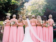 Bubblegum Pink Bridesmaids Dresses Added a Winning Burst of Color to this Annapolis Wedding - bubblegum pink wedding Maryland, Maryland Wedding, Annapolis Wedding, Ball Room Wedding, Hotel Wedd - African Bridesmaid Dresses, Wedding Bridesmaid Dresses, Pink Bridesmaids, Bridesmaid Ideas, Preppy Wedding Dress, Preppy Dresses, Pink Dresses, Church Wedding, Hotel Wedding