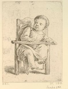 A toddler seated in a child's stool. late 1760s British Museum 1854,1020.600