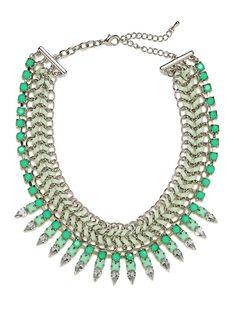 Mint Gem Braid Collar - Necklaces - Categories - Shop Jewelry | BaubleBar