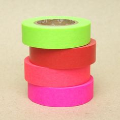 essential neon washi tapes $14.00 USD, via Etsy.