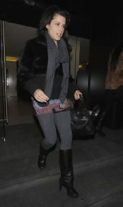Neve Campbell Knee High Boots