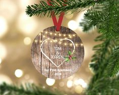 Our first Apartment Christmas Ornaments, our first christmas ornament, first christmas in new home ornament, Personalized Couples Gift – All For Decoration Our First Christmas Ornament, First Christmas Married, Babies First Christmas, Christmas Bulbs, Christmas Decorations, Personalized Couple Gifts, Personalized Christmas Gifts, Engagement Ornaments, Christmas Gifts For Couples
