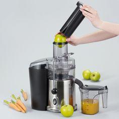 Nouvelle Centrifugeuse ES 3563 SEVERIN : le plaisir simple d'un bon jus de fruits ou légumes frais. Une sélection de la rédaction de source-a-id.com.