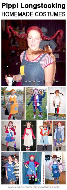 Homemade Pippi Longstocking Costumes Collection - Coolest Halloween Costume Contest