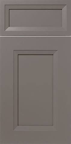 Edgewater S616 Design in Paint Grade Maple - Hard / Soft - Mixed with an MDF Center Panel in our City Gray SolidTone® (painted) finish - Transitional Cabinet Door Style with a square frame - http://walzcraft.com/product/painted-mitered-door-s616/#