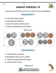 free maths worksheets uk money riddles 3 homeschool pinterest free math worksheets free. Black Bedroom Furniture Sets. Home Design Ideas