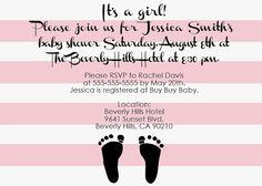 Custom Beverly Hills Hotel Themed Baby Shower Invitations - Printable Baby Shower Invitations OR Baby Announcements - Print Your Own New Baby Beverly Hills Hotel, The Beverly, Printable Baby Shower Invitations, Baby Shower Printables, Baby Nursery Themes, Baby Shower Themes, Baby Announcements, New Baby Products, Etsy