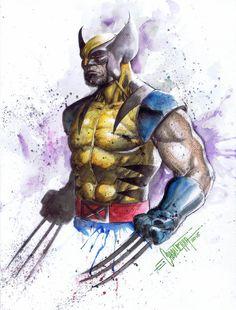 Wolverine by emilcabaltierra on DeviantArt Wolverine Tattoo, Wolverine Art, Logan Wolverine, Wolverine Cosplay, Comic Books Art, Comic Art, Marvel Comic Character, Marvel Characters, Character Sketches