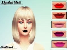 Sims 4 CC's - The Best: Lipstick & Recolors Hair by Naddiswelt