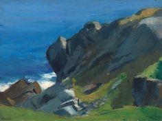 Rocky Shore and Sea - Edward Hopper - The Athenaeum