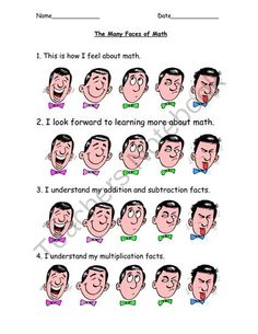 The Many Faces of Math  from ThePassionateTeacher on TeachersNotebook.com -  (1 page)  - This is a great inventory to use at the beginning of the year to gauge your students' math interests. There is an area for goal development at the end.