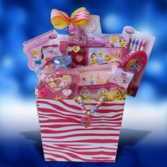 Disney Princess Accessory Gift Basket Perfect Birthday, Get Well Gift Baskets for Girls Under 10 $54.99