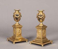 MATTHEW BOULTON, BIRMINGHAM FRS (1728-1809)  - An Important Pair of Blue John Candle Vases