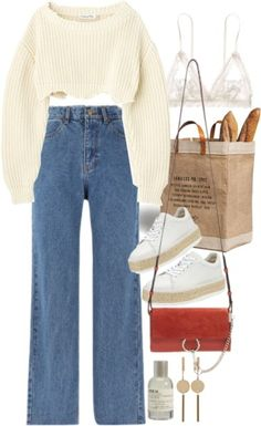 Untitled by nikka-phillips featuring Le Labo Cute Casual Outfits, Retro Outfits, Stylish Outfits, Vintage Outfits, Comfortable Outfits, Aesthetic Fashion, Aesthetic Clothes, Look Fashion, Korean Fashion