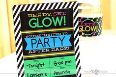 Glow in the dark party invitations!