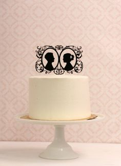 Custom Silhouette Wedding Cake Topper  by Silhouetteweddings, $60.00