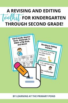"""The """"I can"""" revising and editing posters will be a great visual addition to your minilessons. The kid-friendly mentor texts will give you relevant samples to use to model revision and editing. Your students will get the support they need from the strategy cards, rubrics and checklists, and an interactive editing flip book! Editing Writing, Mentor Texts, Writing Workshop, Writing Resources, Rubrics, Second Grade, Kindergarten, Students, Classroom"""