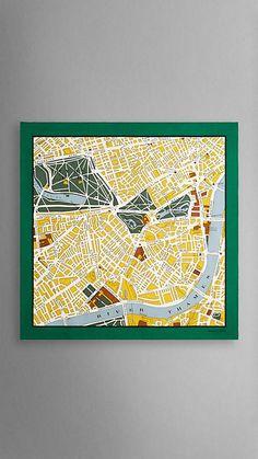 London Map Print Silk Square | Burberry