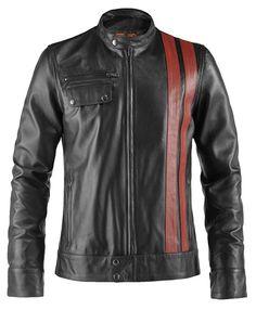 Soul Revolver Frankenstein 70s Retro Leather Jacket - Black - L