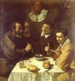 5. El nombre de esta obra se llama '' Almuerzo '' y fue realizado en el 1617 en aceite sobre tela con dimensión de 108 por 102 cm y es conservada a San Petersburgo.