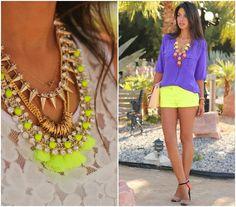 neon + bold necklaces