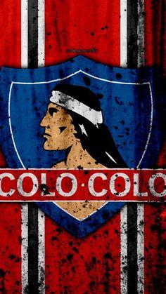 4k, FC Colo Colo, el arte, el grunge, el Chile de la Primera División, fútbol, club de fútbol de Chile, Colo Colo, detalle de logo, piedra textura, Colo Colo FC