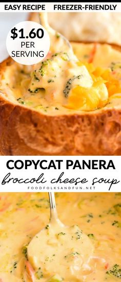 This Copycat Panera Broccoli Cheese Soup recipe tastes just like the original! Save money by making Broccoli Soup Recipes, Broccoli Cheese Soup, Cream Of Broccoli Soup Recipe Panera, Copycat Recipes, Crockpot Recipes, Cooking Recipes, Frugal Recipes, Southern Recipes, Instant Pot