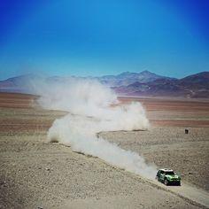 The smoke plume is a traditional marking of the Dakar Rally-winning #MINI #Countryman.