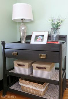 A Changing Table Upcycle {A Changing Table Gets New Life as a Console Table}