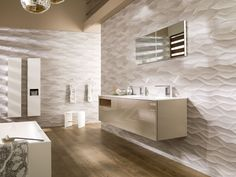 unique Bathroom furniture, that would turn your bathroom into an elegant space with a strong style. Bad Inspiration, Bathroom Inspiration, Contemporary Bathrooms, Modern Bathroom, Design Bathroom, Family Bathroom, Ideas Baños, Ensuite Bathrooms, Bathroom Pictures