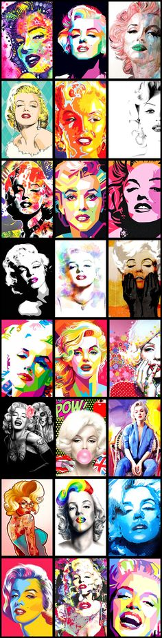 Marilyn Monroe Pop Art Montage...... #popart #marilynmonroe #iconic #normajeane #pinup #art