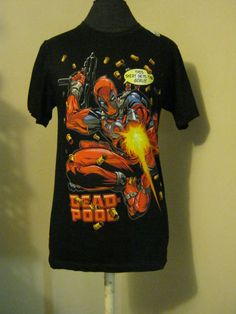 new black Dead Pool Marvel Comics t-shirt sm pop culture graphic tees | eBay