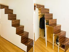 Tiny House Stairs la tiny house with smart staircase to loft Tinyhousetown The Hikari Box Tiny House From Shelter Wise A Japanese Inspired Tiny House