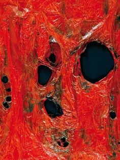 """Alberto Burri (Citta di Castello 1915 - Nizza 1995) """"Rosso Plastica"""" 1962 (80x100) Fondazione Palazzo Albizzini, Collezione Burri, Città di Castello"""