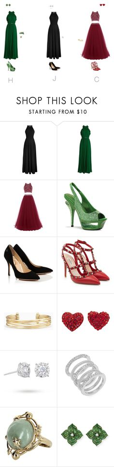 """""""TRIPLETS » PROM"""" by underwondered ❤ liked on Polyvore featuring Elie Saab, Pleaser, Valentino, Stella & Dot, Masquerade, Cole Haan, Vintage and Piranesi"""