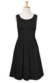 Pleat waist cotton dress.