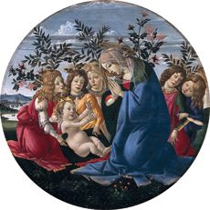 "Sandro Botticelli & Studio""Virgin Adoring the Christ Child in Company of Angels"""