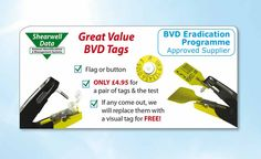 BVD tags! Hav you tried our TST testing tags?