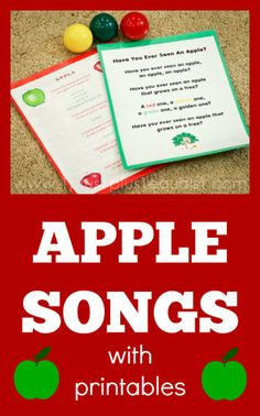 Apple Songs with free printables This is a great song card for teaching sounds and letters